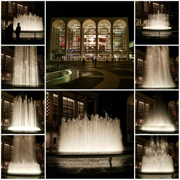 Photo Challenge: Not Pedestrian - WATER FOUNTAIN AT LINCOLN CENTER